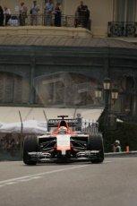 World © Octane Photographic Ltd. Thursday 22nd May 2014. Monaco - Monte Carlo - Formula 1 Practice 2. Marussia F1 Team MR03 - Jules Bianchi. Digital Ref: 0960LB1D6601