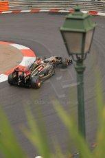 World © Octane Photographic Ltd. Thursday 22nd May 2014. Monaco - Monte Carlo - Formula 1 Practice 2. Lotus F1 Team E22 – Pastor Maldonado. Digital Ref: 0960LB1D6917