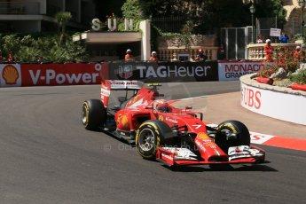 World © Octane Photographic Ltd. Saturday 24th May 2014. Monaco - Monte Carlo - Formula 1 Practice 3. Scuderia Ferrari F14T – Kimi Raikkonen. Digital Ref: 0965LB1D7227