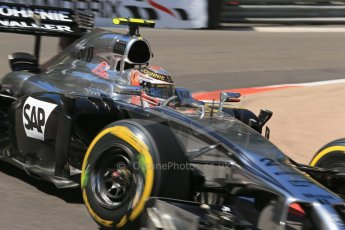 World © Octane Photographic Ltd. Saturday 24th May 2014. Monaco - Monte Carlo - Formula 1 Practice 3. McLaren Mercedes MP4/29 – Kevin Magnussen. Digital Ref: 0965LB1D7301