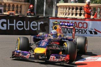 World © Octane Photographic Ltd. Saturday 24th May 2014. Monaco - Monte Carlo - Formula 1 Practice 3. Infiniti Red Bull Racing RB10 – Daniel Ricciardo. Digital Ref: 0965LB1D7329