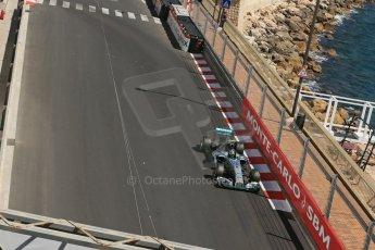 World © Octane Photographic Ltd. Saturday 24th May 2014. Monaco - Monte Carlo - Formula 1 Practice 3. Mercedes AMG Petronas F1 W05 Hybrid - Nico Rosberg. Digital Ref: 0965LB1D7482