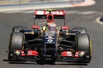 World © Octane Photographic Ltd. Saturday 24th May 2014. Monaco - Monte Carlo - Formula 1 Practice 3. Lotus F1 Team E22 – Pastor Maldonado. Digital Ref: 0965LB1D7608