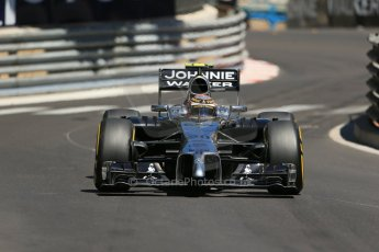 World © Octane Photographic Ltd. Saturday 24th May 2014. Monaco - Monte Carlo - Formula 1 Practice 3. McLaren Mercedes MP4/29 – Kevin Magnussen. Digital Ref: 0965LB1D7666