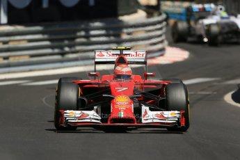 World © Octane Photographic Ltd. Saturday 24th May 2014. Monaco - Monte Carlo - Formula 1 Practice 3. Scuderia Ferrari F14T – Kimi Raikkonen. Digital Ref: 0965LB1D7676