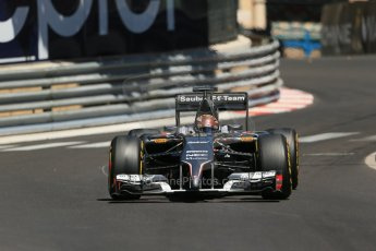World © Octane Photographic Ltd. Saturday 24th May 2014. Monaco - Monte Carlo - Formula 1 Practice 3. Sauber C33 – Adrian Sutil. Digital Ref: 0965LB1D7697