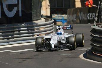 World © Octane Photographic Ltd. Saturday 24th May 2014. Monaco - Monte Carlo - Formula 1 Practice 3. Williams Martini Racing FW36 – Valtteri Bottas Digital Ref: 0965LB1D7743