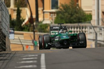 World © Octane Photographic Ltd. Saturday 24th May 2014. Monaco - Monte Carlo - Formula 1 Practice 3. Caterham F1 Team CT05 – Kamui Kobayashi. Digital Ref: 0965LB1D7793
