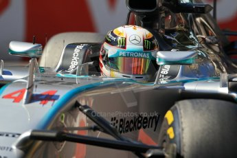 World © Octane Photographic Ltd. Saturday 24th May 2014. Monaco - Monte Carlo - Formula 1 Practice 3. Mercedes AMG Petronas F1 W05 Hybrid – Lewis Hamilton. Digital Ref: 0965LB1DX7795