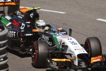 World © Octane Photographic Ltd. Saturday 24th May 2014. Monaco - Monte Carlo - Formula 1 Qualifying. Sahara Force India VJM07 – Sergio Perez. Digital Ref: 0967CB7D3252