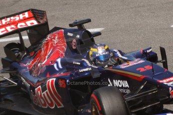 World © Octane Photographic Ltd. Saturday 24th May 2014. Monaco - Monte Carlo - Formula 1 Qualifying. Scuderia Toro Rosso STR9 - Jean-Eric Vergne. Digital Ref: 0967CB7D3265