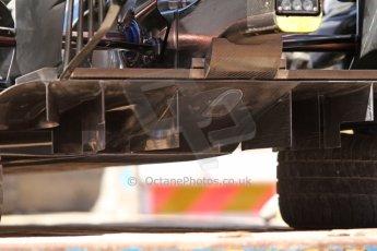 World © Octane Photographic Ltd. Saturday 24th May 2014. Monaco - Monte Carlo - Formula 1 Qualifying. Williams Martini Racing FW36 rear diffuser. Digital Ref: 0967CB7D3271