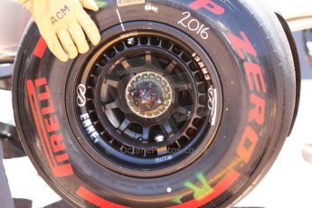 World © Octane Photographic Ltd. Saturday 24th May 2014. Monaco - Monte Carlo - Formula 1 Qualifying. McLaren Mercedes MP4/29 front wheel. Digital Ref: 0967CB7D3309
