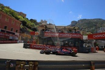World © Octane Photographic Ltd. Saturday 24th May 2014. Monaco - Monte Carlo - Formula 1 Qualifying. Scuderia Toro Rosso STR9 - Jean-Eric Vergne. Digital Ref: 0967LB1D47872