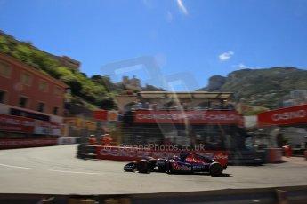 World © Octane Photographic Ltd. Saturday 24th May 2014. Monaco - Monte Carlo - Formula 1 Qualifying. Scuderia Toro Rosso STR9 - Jean-Eric Vergne. Digital Ref: 0967LB1D47940
