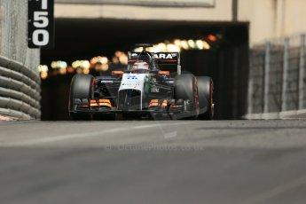World © Octane Photographic Ltd. Saturday 24th May 2014. Monaco - Monte Carlo - Formula 1 Qualifying. Sahara Force India VJM07 – Nico Hulkenburg. Digital Ref : 0967LB1D8212
