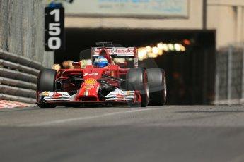 World © Octane Photographic Ltd. Saturday 24th May 2014. Monaco - Monte Carlo - Formula 1 Qualifying. Scuderia Ferrari F14T - Fernando Alonso. Digital Ref: 0967LB1D8232