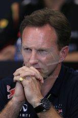 World © Octane Photographic Ltd. Thursday 22nd May 2014. Monaco - Monte Carlo - Formula 1 Press conference. Infiniti Red Bull Racing Team Principle - Christian Horner. Digital Ref: 0961LB1D4827