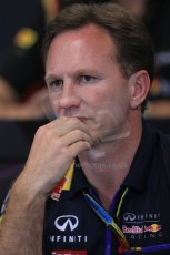 World © Octane Photographic Ltd. Thursday 22nd May 2014. Monaco - Monte Carlo - Formula 1 Press conference. Infiniti Red Bull Racing Team Principle - Christian Horner. Digital Ref: 0961LB1D4888