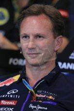World © Octane Photographic Ltd. Thursday 22nd May 2014. Monaco - Monte Carlo - Formula 1 Press conference. Infiniti Red Bull Racing Team Principle - Christian Horner. Digital Ref: 0961LB1D4916