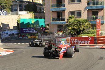 World © Octane Photographic Ltd. World Series by Renault 3.5 - Monaco, Monte Carlo, May 24th 2014 - Qualifying. Zeta Corse – Roman Mavlanov with damaged rear wing and Strakka Racing – Matias Laine. Digital Ref : 0966LB1D7486