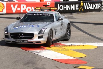 World © Octane Photographic Ltd. Friday 23rd May 2014. GP2 Feature Race – Monaco, Monte Carlo. FIA Safety Car deployed for the 1st of 3 times - Mercedes SLS AMG on green flag lap. Digital Ref : 0963CB7D2789