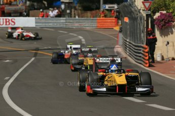 World © Octane Photographic Ltd. Friday 23rd May 2014. GP2 Feature Race – Monaco, Monte Carlo. Jolyon Palmer and Stefano Coletti - DAMS. Digital Ref : 0963LB1D5345