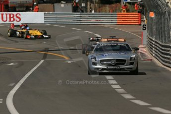 World © Octane Photographic Ltd. Friday 23rd May 2014. GP2 Feature Race – Monaco, Monte Carlo. FIA Safety Car deployed for the 1st of 3 times - Mercedes SLS AMG on green flag lap. Digital Ref : 0963LB1D5470