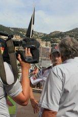 World © Octane Photographic Ltd. Sunday 25TH May 2014. Monaco GP - Gary Anderson interviews Sauber C33 – Adrian Sutil. Formula 1 Paddock. Digital Ref: