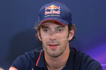 World © Octane Photographic Ltd. Wednesday 21st May 2014. Monaco - Monte Carlo - Formula 1 Drivers' Press Conference. Jean-Eric Vergne - Scuderia Toro Rosso. Digital Ref : 0955lb1d2999