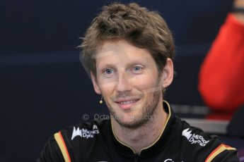 World © Octane Photographic Ltd. Wednesday 21st May 2014. Monaco - Monte Carlo - Formula 1 Drivers' Press Conference. Romain Grosjean - Lotus F1 Team. Digital Ref : 0955lb1d3015