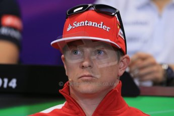 World © Octane Photographic Ltd. Wednesday 21st May 2014. Monaco - Monte Carlo - Formula 1 Drivers' Press Conference. Kimi Raikkonen - Scuderia Ferrari. Digital Ref : 0955lb1d3023