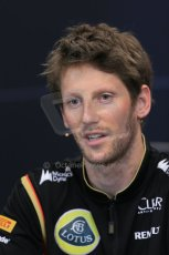 World © Octane Photographic Ltd. Wednesday 21st May 2014. Monaco - Monte Carlo - Formula 1 Drivers' Press Conference. Romain Grosjean - Lotus F1 Team. Digital Ref : 0955lb1d3042