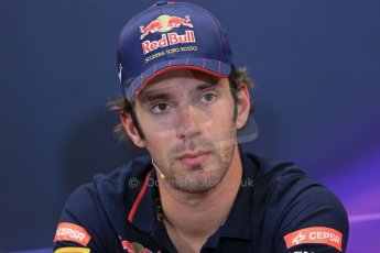 World © Octane Photographic Ltd. Wednesday 21st May 2014. Monaco - Monte Carlo - Formula 1 Drivers' Press Conference. Jean-Eric Vergne - Scuderia Toro Rosso. Digital Ref : 0955lb1d3131
