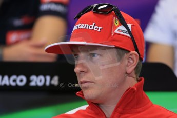 World © Octane Photographic Ltd. Wednesday 21st May 2014. Monaco - Monte Carlo - Formula 1 Drivers' Press Conference. Kimi Raikkonen - Scuderia Ferrari. Digital Ref : 0955lb1d3142
