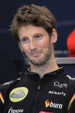 World © Octane Photographic Ltd. Wednesday 21st May 2014. Monaco - Monte Carlo - Formula 1 Drivers' Press Conference. Romain Grosjean - Lotus F1 Team. Digital Ref : 0955lb1d3250