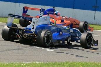 World © Octane Photographic Ltd. Protyre Formula Renault Championship. June 1st 2014.  Race 2 – Castle Donington. Piers Hickin – Scorpio Motorsport and Patrick Dussault – Cliff Dempsey Racing. Digital Ref : 0975CB1D0571