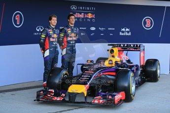 World © Octane Photographic Ltd. 2014 Formula 1 Winter Testing, Circuito de Velocidad, Jerez. Tuesday 27th January 2014. Day 1. Infiniti Red Bull Racing RB10 launched by Sebastian Vettel and Daniel Ricciardo. Digital Ref: 0885lb1d9856