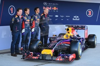 World © Octane Photographic Ltd. 2014 Formula 1 Winter Testing, Circuito de Velocidad, Jerez. Tuesday 27th January 2014. Day 1. Infiniti Red Bull Racing RB10 launched by Sebastian Vettel and Daniel Ricciardo. Digital Ref: 0885lb1d9872