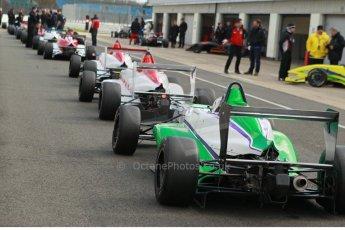 World © Octane Photographic Ltd. 21st March 2014. Silverstone - General Test Day - Jordan Albert - Tem O'Br.  BRDC F4 Championship (Formula 4). Digital Ref : 0896cb1d4394