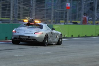World © Octane Photographic Ltd. Friday 19th September 2014, Singapore Grand Prix, Marina Bay. - Formula 1 Practice 1. Mercedes SLS AMG GT Safety car. Digital Ref: