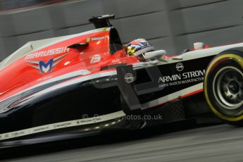 World © Octane Photographic Ltd. Friday 19th September 2014, Singapore Grand Prix, Marina Bay. - Formula 1 Practice 1. Marussia F1 Team MR03 - Jules Bianchi. Digital Ref: