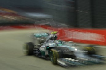 World © Octane Photographic Ltd. Friday 19th September 2014, Singapore Grand Prix, Marina Bay. - Formula 1 Practice 1. Mercedes AMG Petronas F1 W05 - Nico Rosberg. Digital Ref: