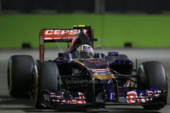 World © Octane Photographic Ltd. Friday 19th September 2014, Singapore Grand Prix, Marina Bay. - Formula 1 Practice 1. Scuderia Toro Rosso STR 9 – Daniil Kvyat. Digital Ref: