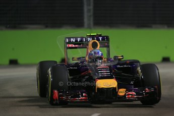 World © Octane Photographic Ltd. Friday 19th September 2014, Singapore Grand Prix, Marina Bay. - Formula 1 Practice 1. Infiniti Red Bull Racing RB10 – Daniel Ricciardo. Digital Ref: 1118LB1D0447