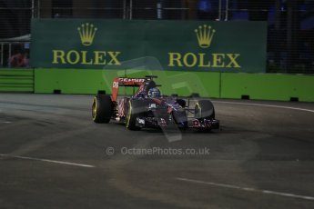 World © Octane Photographic Ltd. Friday 19th September 2014, Singapore Grand Prix, Marina Bay. - Formula 1 Practice 1. Scuderia Toro Rosso STR9 - Jean-Eric Vergne. Digital Ref: 1118LB1D9877