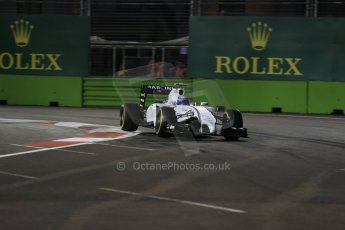 World © Octane Photographic Ltd. Friday 19th September 2014, Singapore Grand Prix, Marina Bay. - Formula 1 Practice 1. Williams Martini Racing FW36 – Felipe Massa. Digital Ref: 1118LB1D9892