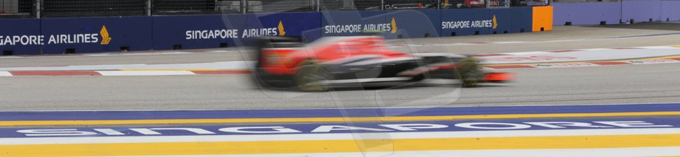 World © Octane Photographic Ltd. Saturday 20th September 2014, Singapore Grand Prix, Marina Bay. - Formula 1 Practice 3. Marussia F1 Team MR03 – Max Chilton. Digital Ref: