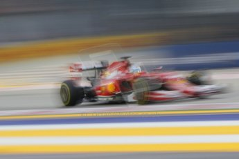 World © Octane Photographic Ltd. Saturday 20th September 2014, Singapore Grand Prix, Marina Bay. - Formula 1 Practice 3. Scuderia Ferrari F14T - Fernando Alonso. Digital Ref: