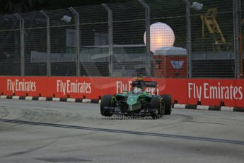 World © Octane Photographic Ltd. Saturday 20th September 2014, Singapore Grand Prix, Marina Bay. - Formula 1 Practice 3. Caterham F1 Team CT05 – Marcus Ericsson. Digital Ref: